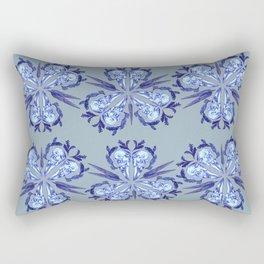Itty bitty bones blue Rectangular Pillow