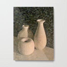 3 Vases Metal Print