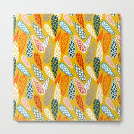 Colored Cone pattern Metal Print