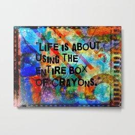 Crayon Box Collage Metal Print