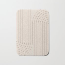 Minimal Line Curvature - Natural Bath Mat