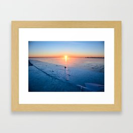 Frozen Sunrise pt. 2 Framed Art Print