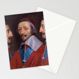 """Philippe De Champaigne  """"Triple Portrait of Richelieu"""" Stationery Cards"""