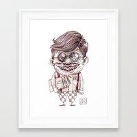 nerd Framed Art Prints featuring NERD by Masss Petrone