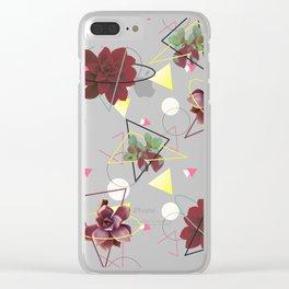 Spatial Succulents #redbubble #decor #buyart Clear iPhone Case