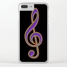 Rainbow G Clef Treble Clef Music Lover Musician Clear iPhone Case