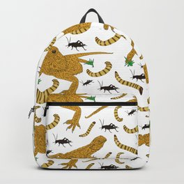 Large Bearded Dragon pattern Backpack