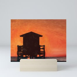 Lifeguard Sunset Mini Art Print