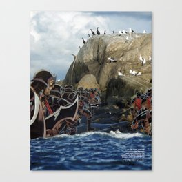Imperial Death March  - Vintage collage Canvas Print