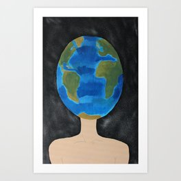 Thinking Globally phone case  Art Print