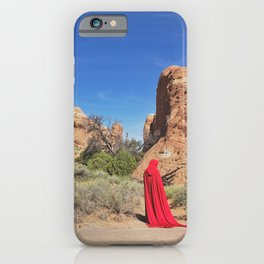 Portrait in Red | Arches III iPhone Case