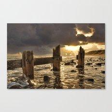 Old Groyne Sunset Canvas Print