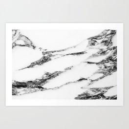 Marble (White) Art Print