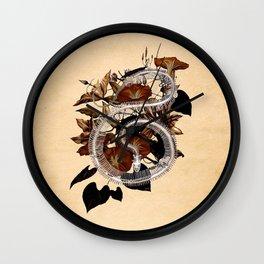 Snake Skeleton and Vine Wall Clock