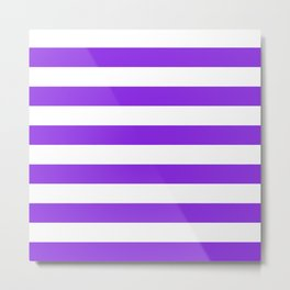 Horizontal stripes / blue violent Metal Print