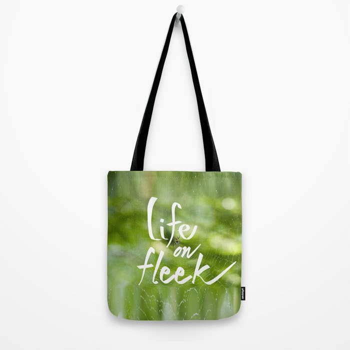 Life on Fleek - Spider Web in Woods Tote Bag