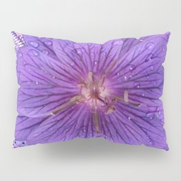 LILAC PURPLE FLORAL & PURPLE GEOMETRIC Pillow Sham