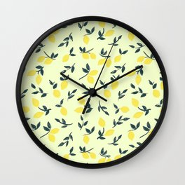 Lemon Theme Wall Clock