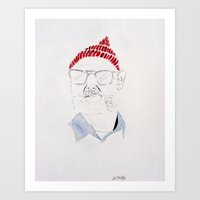 the life aquatic Art Prints featuring Life Aquatic by Lindsay Milgrim