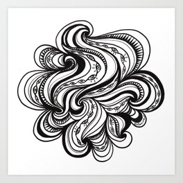 Blinking Cloud Art Print