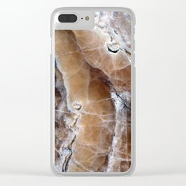 Marble Paint Formation Clear iPhone Case