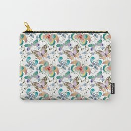 Butterflies In Springtime Carry-All Pouch