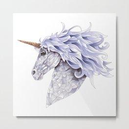 Celina the Unicorn Metal Print