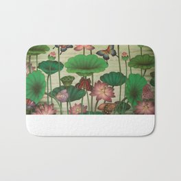 Lotus Painting Bath Mat