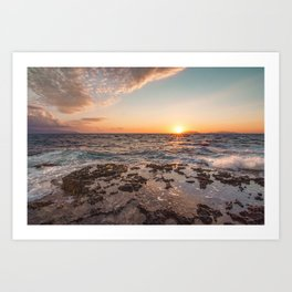 Peaceful atmosphere at sunset Art Print