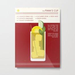 Pimm's Cup Art Print Metal Print