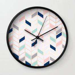 Herringbone Wall Clock