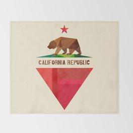 California 2 (rectangular version) Throw Blanket