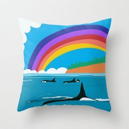 Sissy and the J Pod Throw Pillow
