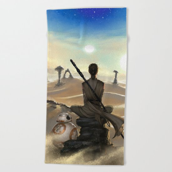 StarWars - Rey Beach Towel