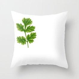 Cilantro Or Coriander   Funny Herb Throw Pillow