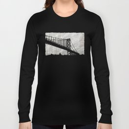 Paper City, Newspaper Bridge Collage Long Sleeve T-shirt