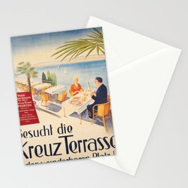Advertisement hotel weissen kreuz murten besucht Stationery Cards