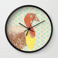 turkey Wall Clocks featuring Go turkey! by Albert Palen  >   albertpalendraws.com