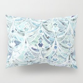 Ice and Diamonds Art Deco Pattern Pillow Sham