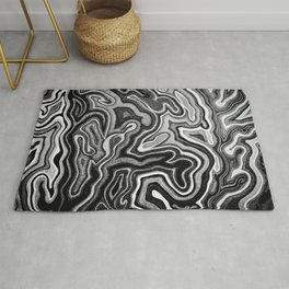 Abstract #1 - I - Silvered Rug