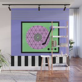 Play That Retro Geometric Vinyl Wall Mural
