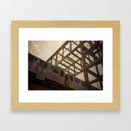 The Pink Line Framed Art Print