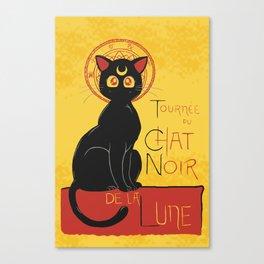 Chat Noir de la Lune Canvas Print