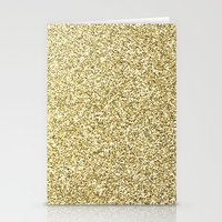 gold glitter Stationery Cards featuring gold glitter by lamottedesign