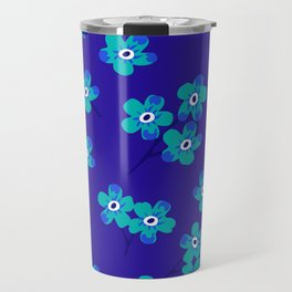 Forget-me-nots - Blue Travel Mug