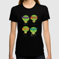 Turtles Black SMALL Womens Fitted Tee