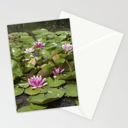 summer garden pond III Stationery Cards