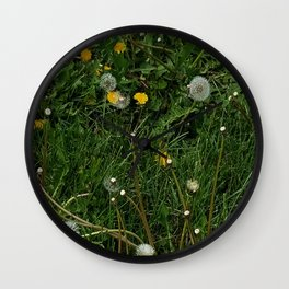 Giant Dandelion Year Wall Clock