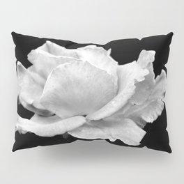 White Rose On Black Pillow Sham