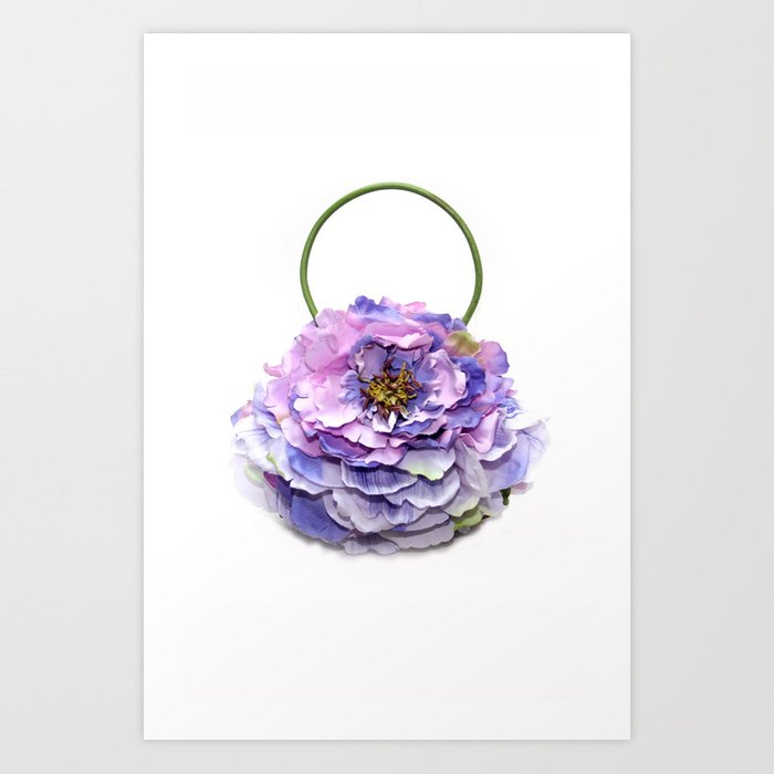 Lavender Peony Handbag Art Print